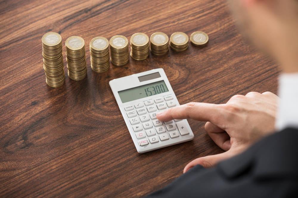 Contados digital de monedas para negocios